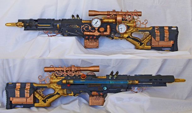 Steampunk Nerf gun! Just brilliant!