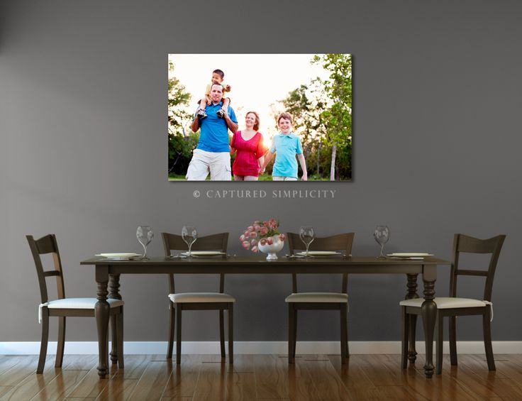 Ideas For Displaying Large 30x40 Canvas Over Dining Table Family Photography