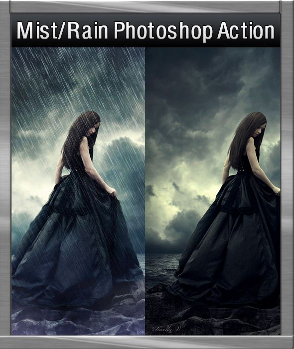 GraficAction | Mist and Rain Photoshop Action