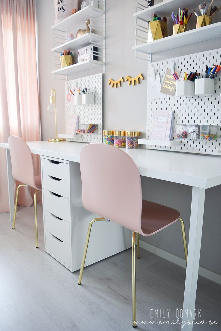 Génial Écran Bureau meisjeskamer Stratégies en 18  Ikea chambre
