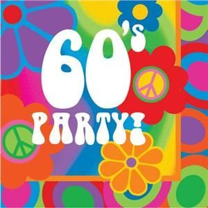 Hippie Party Supplies 60s | Groovy 60s Flower Power Theme Party Napkins x 16 | Party ideas
