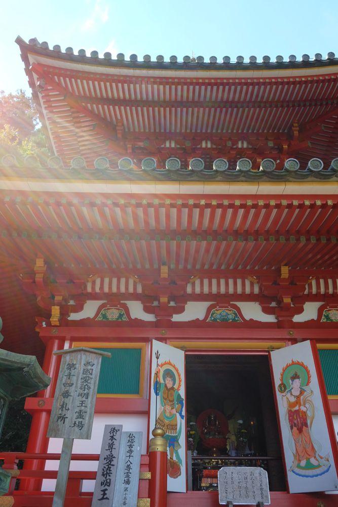宝山寺の多宝塔 公開中の仏像様 in Houzanji-temple,Ikoma-city,Nara,Japan