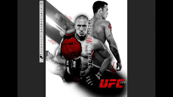 UFC 129 poster design process in Photoshop