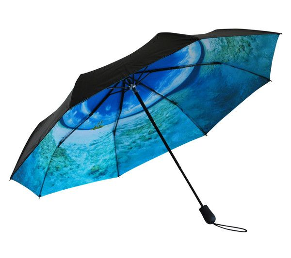 'Marooned at Sea' Folding Umbrella | Where I'd Rather Be | http://www.whereidratherbe.co.uk/products/marooned-at-sea-folding-umbrella