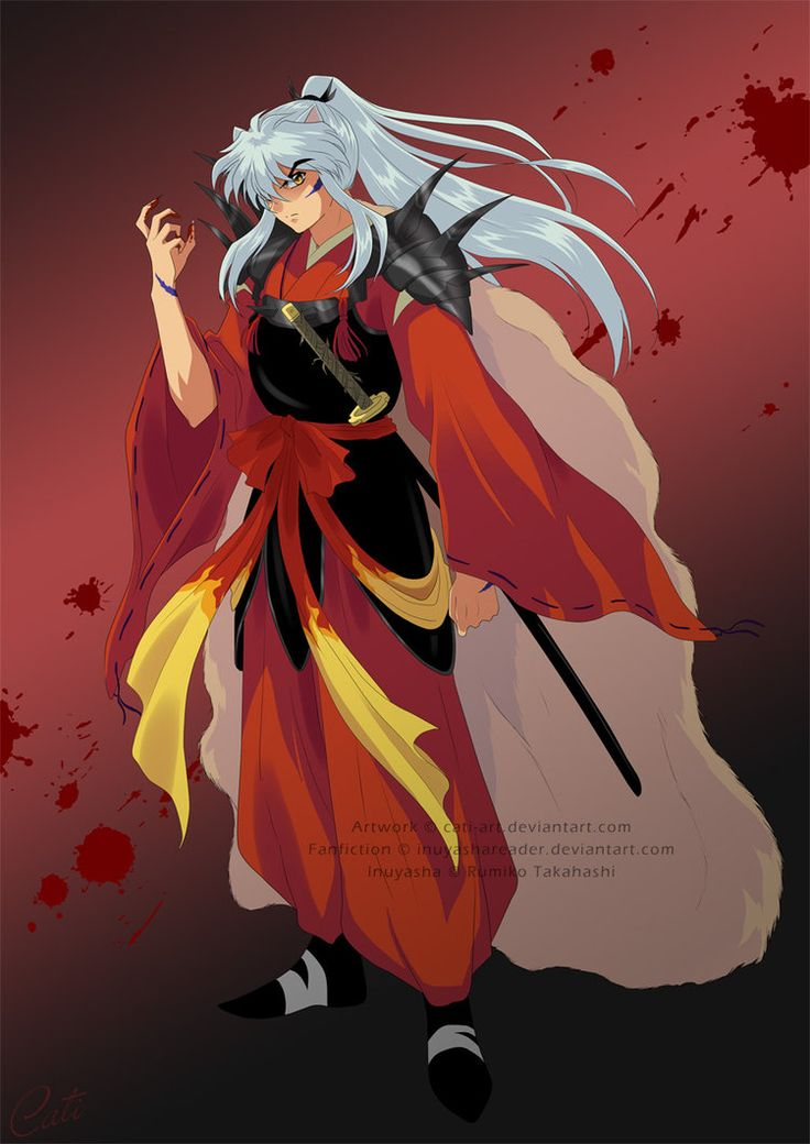 Commission - Daiyoukai Inuyasha by Cati-Art on deviantART