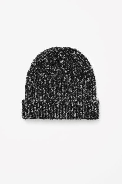 Melange knit hat