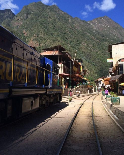 The train lines runs right through Aguas Calientes #Peru #AguasCalientes #MachuPicchu #RTW #JulesVernex2 More on our stay in Peru on our travel blog julesvernex2.wordpress.com