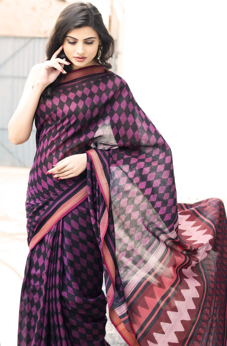 Geometric print play, #saree at #fabindia