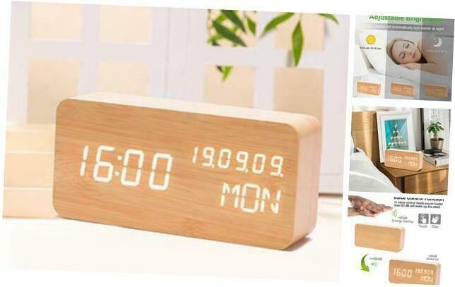 Digital Wooden Alarm Clocks For Bedrooms With Led Large Display 3 Alarm Setting Alarm Clocks Clock Radios Ebay Link In 2020 Alarm Clock Clock Alarm Set