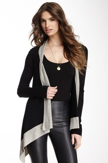 Shiny tights and flowy cardi...perfect for long days at the library!