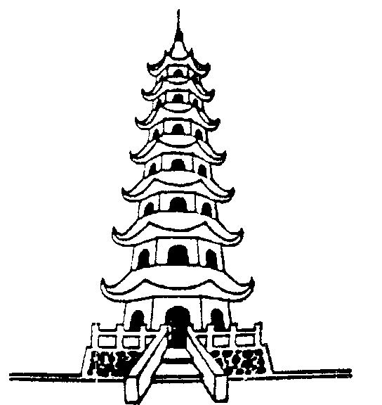 coloring pages ancient chinese houses - photo#6