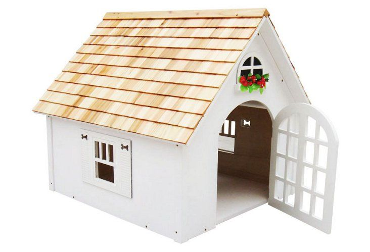 Victorian Dog House, White