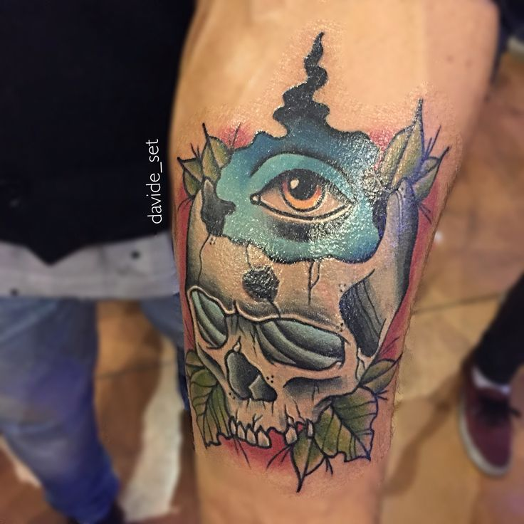 Skull and eye by Davide Set from Italy