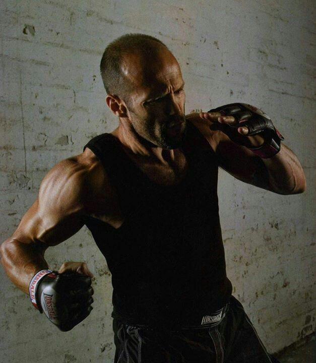 """""""Jason Statham Kick Boxing"""" ~ he may be borderline old enough to be my dad, but he is still so sexy. Never thought I'd ever say that about a man with a receding hairline."""