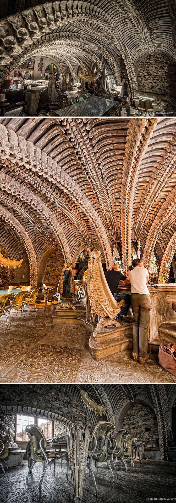 Enjoy Your Alien Coffee At This Bizarre Bar, Hr Giger Museum Bar, Gruyères, Switzerland