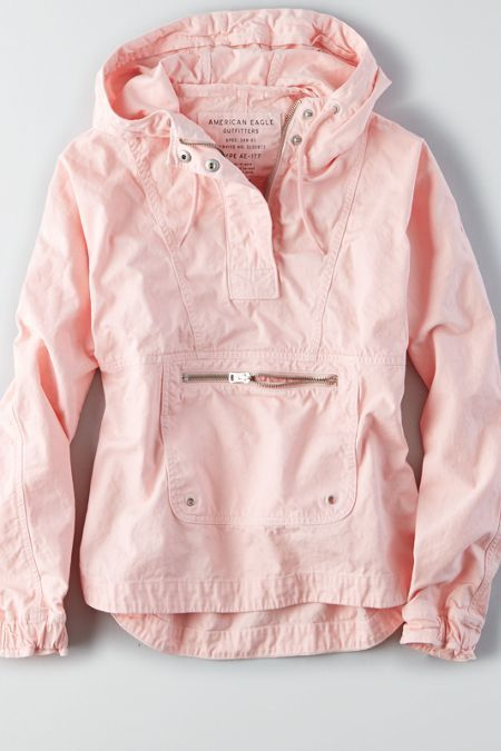 awesome AEO Pullover Windbreaker , Pink | American Eagle Outfitters