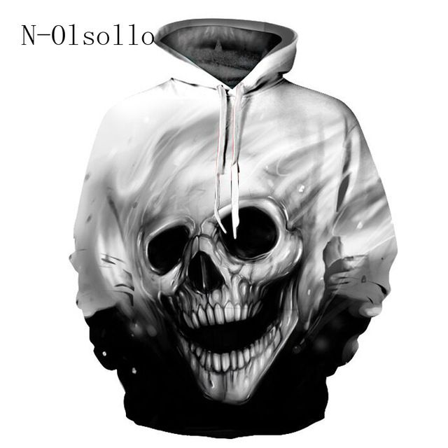 2017 3D Hoodies Men/Women Hooded Sweatshirts Melted Skull 3D Print Casual Pullovers Streetwear Tops Thin Autumn Regular Hipster #Brand #N-olsollo #sweaters #women_clothing #stylish_dresses #style #fashion