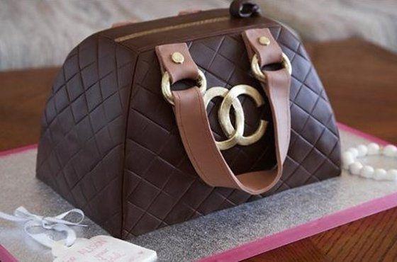Au Couture Channel Purse Cake cakepins.com