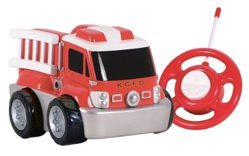 Kid Galaxy My First Electric RC Fire Truck Toddler Remote Control Toy Red 49 MHz