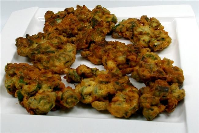 Magnolia Collection Recipes - Fresh OKRA FRITTERS - So easy to Be so good !
