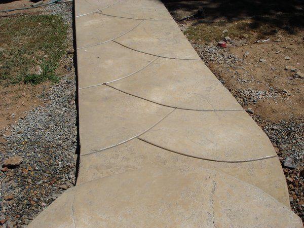 Stamped Concrete Expansion Joints : Best images about concrete walkways decks on pinterest