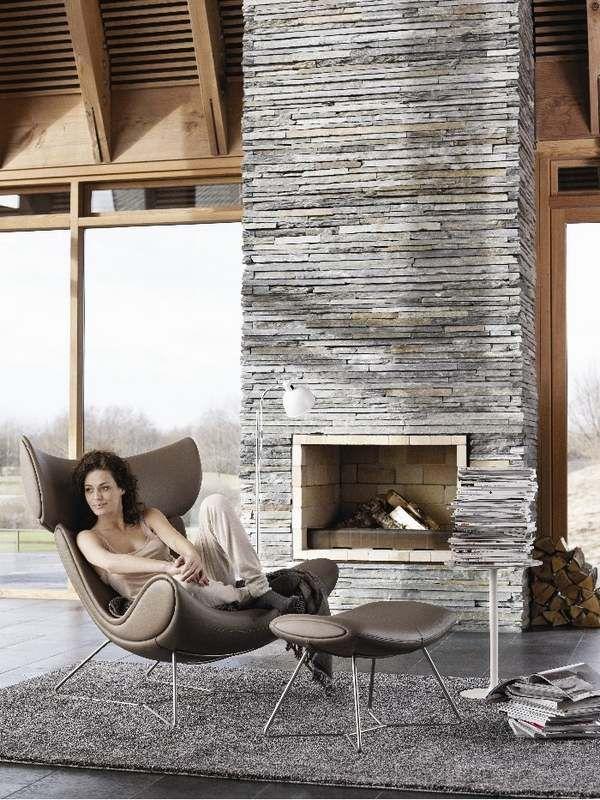 Best 10 Modern stone fireplace ideas on Pinterest Modern