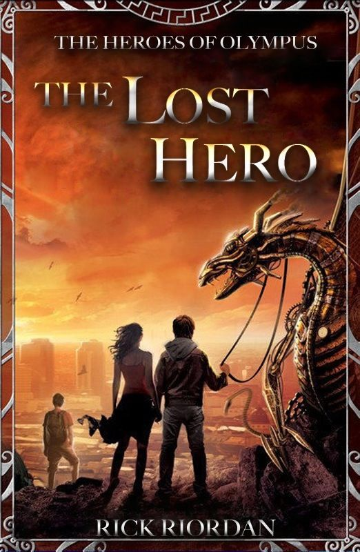 Lost Hero book cover <-- I like the other one better <---- I didn't even know they were making new covers for the second series.