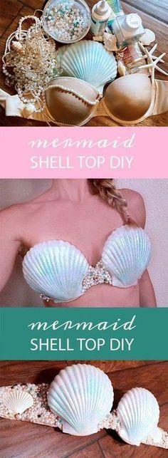 Mermaid Shell DIY Bra - Easy, Perfect Fit Mermaid Costume Top