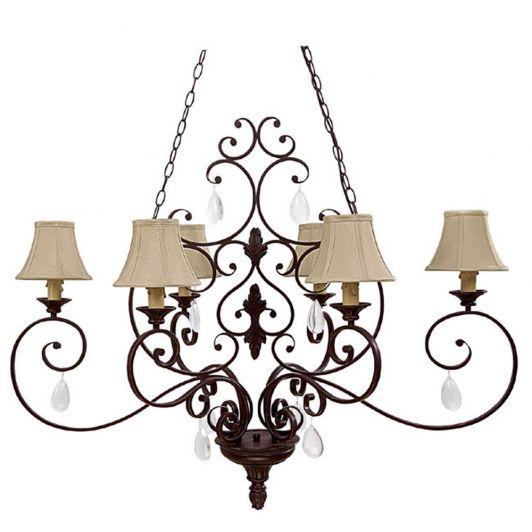 Brandon Hall 6 Light Chandelier shown in Mediterranean Bronze by Capital Lighting - Home and Garden Design Ideas