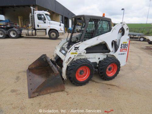 2011-Bobcat-S185-Skid-Steer-Wheel-Loader-Enclosed-Cab-Aux-Hyd-bidadoo