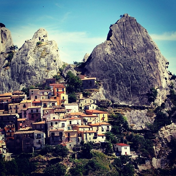 #Castelmezzano. #Basilicata, #Loveitaly - the home of the Flight of the Angel, incredible!