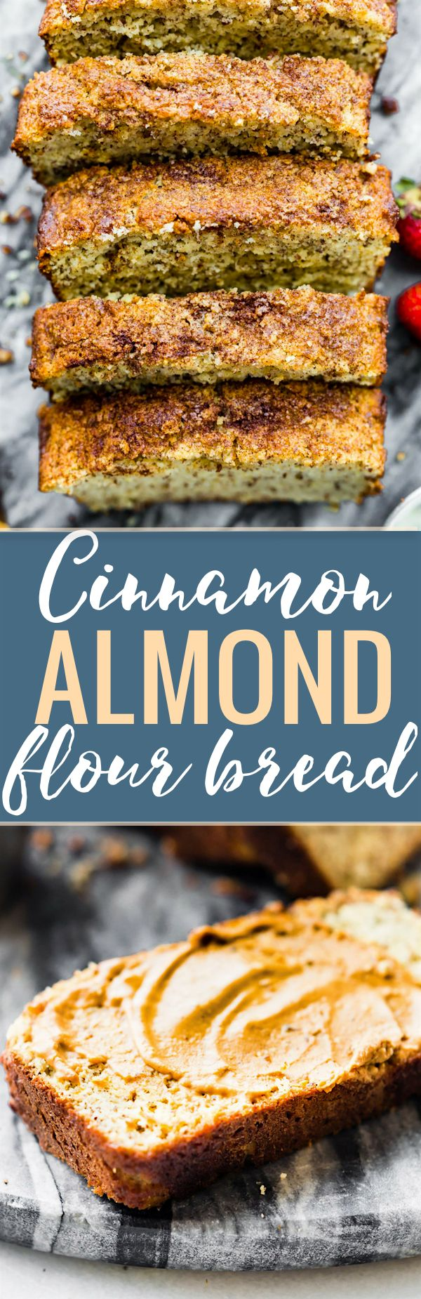 Paleo CINNAMON ALMOND FLOUR BREAD! Our go-to every day bread! Simple healthy ingredients, naturally low in sugar, soft and delicious ya'll! www.cottercrunch.com