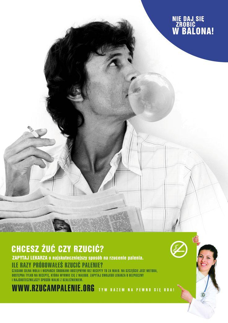 """Champix. """"Break up with cigarettes"""" creative campaign."""