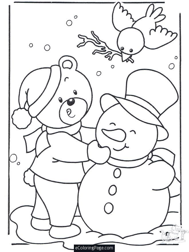 Merry Christmas Coloring Pages Jan Merry Christmas Snowman