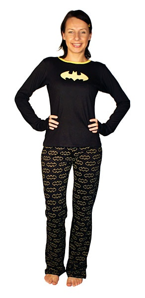 Batgirl Ladies' Pajama Set  Librarian evening wear.