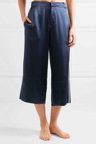 Olivia von Halle - Daria Silk-satin Pajama Set - Storm blue - 3