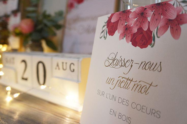 Mariage Romantique Floral - Design et Papeterie Dessine-moi une etoile