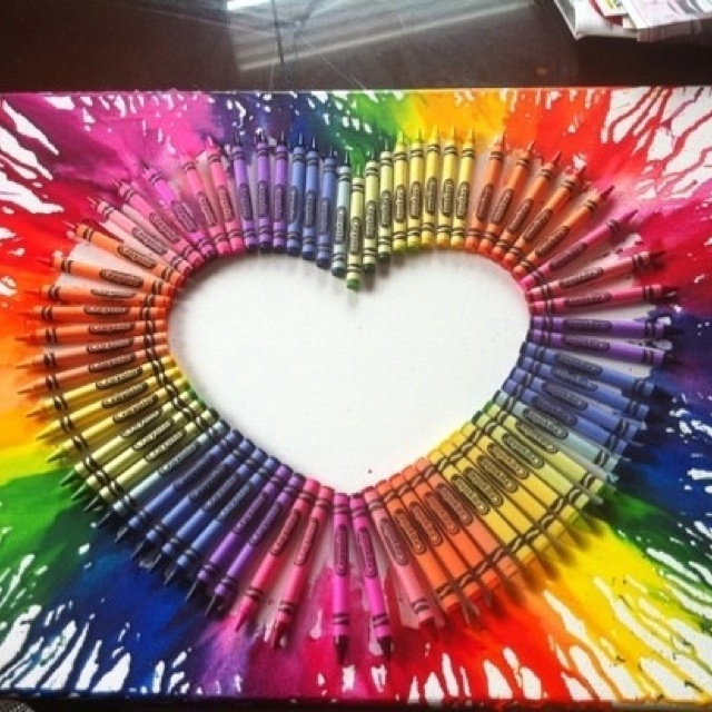 Crayon melting this looks pretty cool!