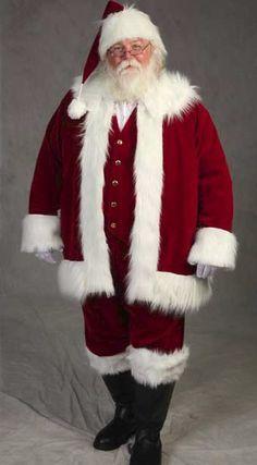 Image Detail for - Deluxe Traditional Santa suit :: Santa Suits :: planetsanta.com I like the vest idea