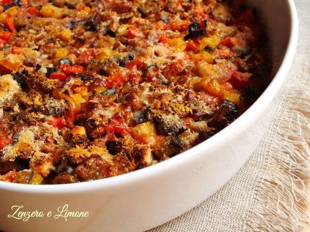 Peperoni+e+melanzane+al+forno