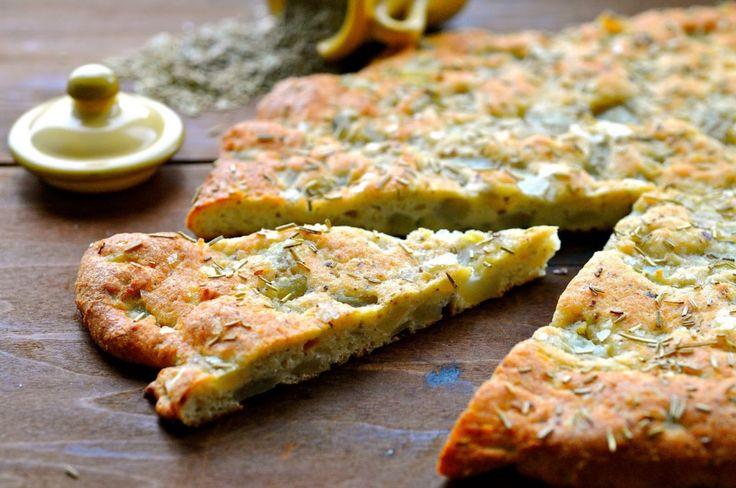Jerusalem Artichoke Focaccia Flat Bread – flour free