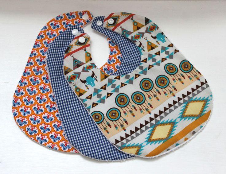 Lätzchen Set mit Nässeschutz von JulaMade auf DaWanda.com