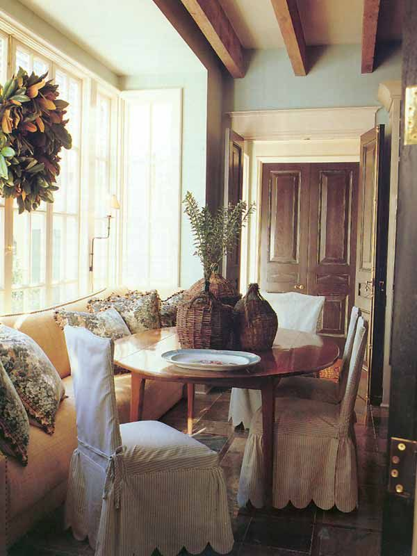 Cozy Dining Inspiration, Charming Slipcovers And Design