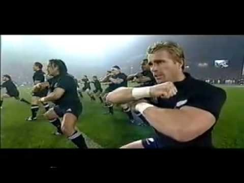 The All Blacks haka. First time I seen a blacks game and seen this I was speechless...so cool.
