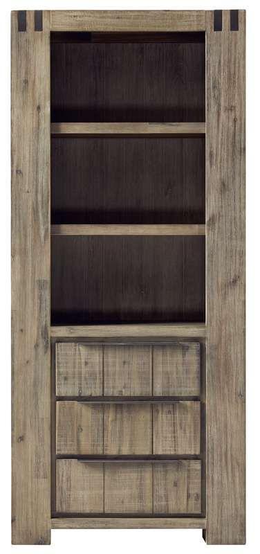 #prontowonen #droomwoonkamer Boekenkast Alezio pine antique grey - Kasten