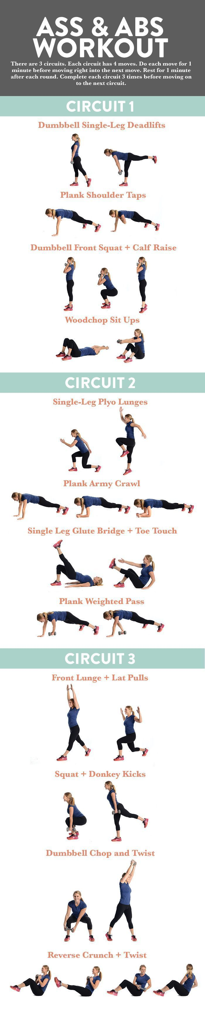 This 45-Minute Ass and Abs Workout will work both your core and booty. It mixes strength moves with plyometrics for the ultimate burn!
