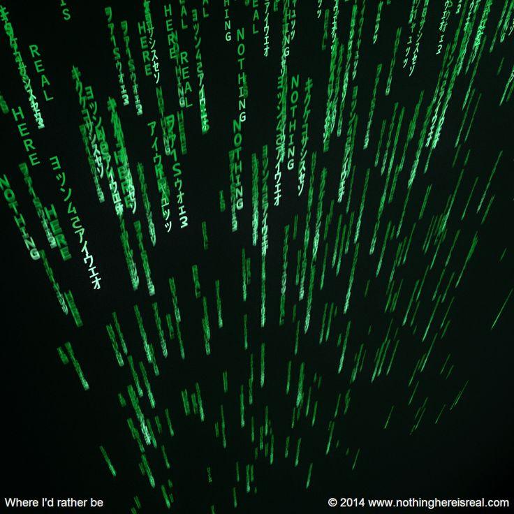 Where I'd rather be #3d #3dart #art #digitalart #computergraphics #nothinghereisreal #blender #blender3d #b3d #matrix #rain #code