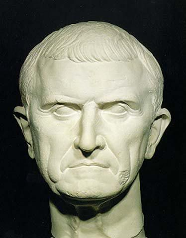 Marcus Licinius Crassus - a third of the first triumvirate. Always in the shadow of Pompey, he amassed a great fortune. He died in a disastrous war with Syria.