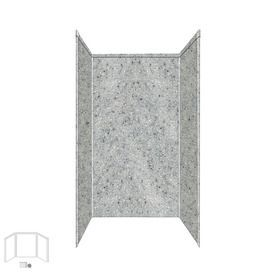 Transolid Decor Matrix Dusk/Stone Shower Wall Surround Side And Back Panels (Common: 34-In X 42-In; Actual: 96-In X 34-I