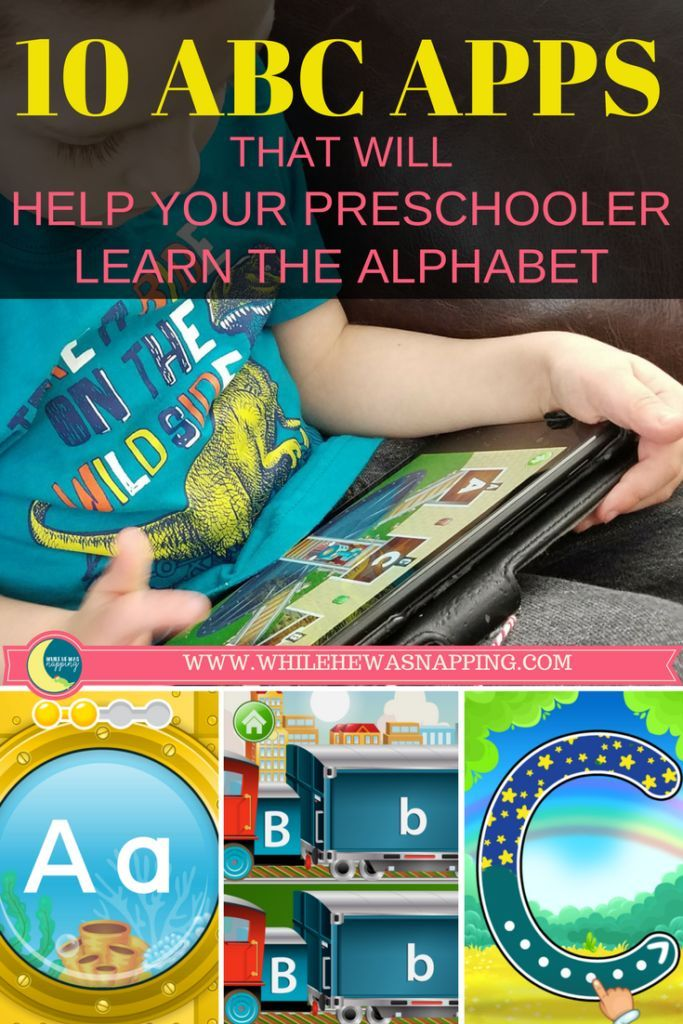 10 Irresistible ABC Apps that will help your preschooler learn the alphabet. Quality apps that focus on educational themes, will keep your kids in the app they are supposed to be in and don't have gross ads all over them.